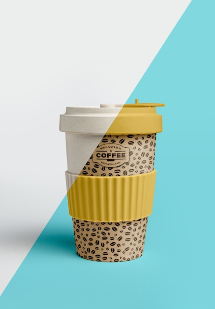 Front view of coffee cup Free Psd