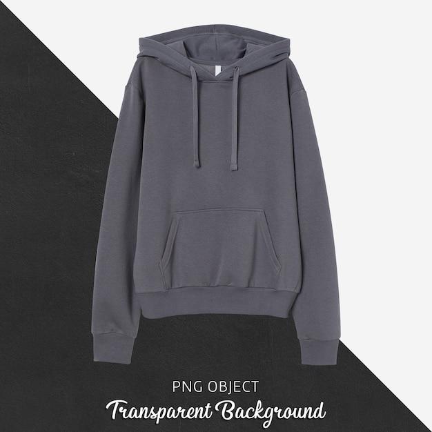 Front view of dark gray hoodie mockup Premium Psd