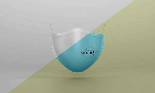 Front view of face mask mock-up Free Psd