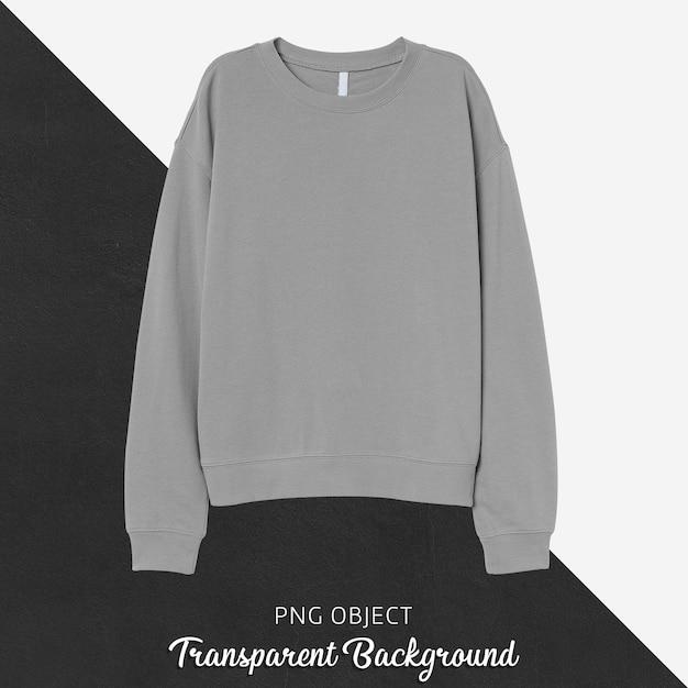 Front view of gray sweatshirt mockup Premium Psd