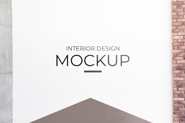 Front view of interior decoration mock-up Free Psd
