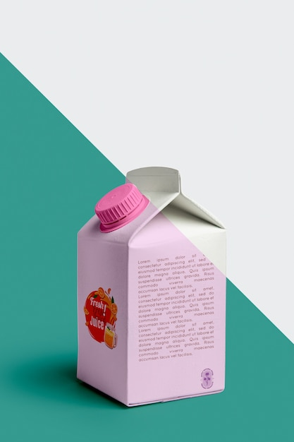Front view of juice carton Free Psd
