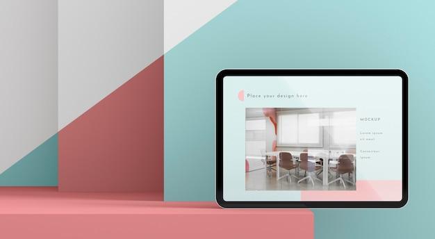 전면보기 현대 태블릿 모형 무료 PSD 파일