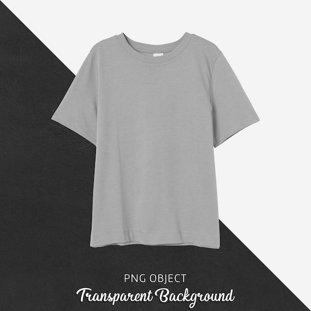 베이지 색 일반 맞춤 티셔츠 모형의 전면보기 프리미엄 PSD 파일