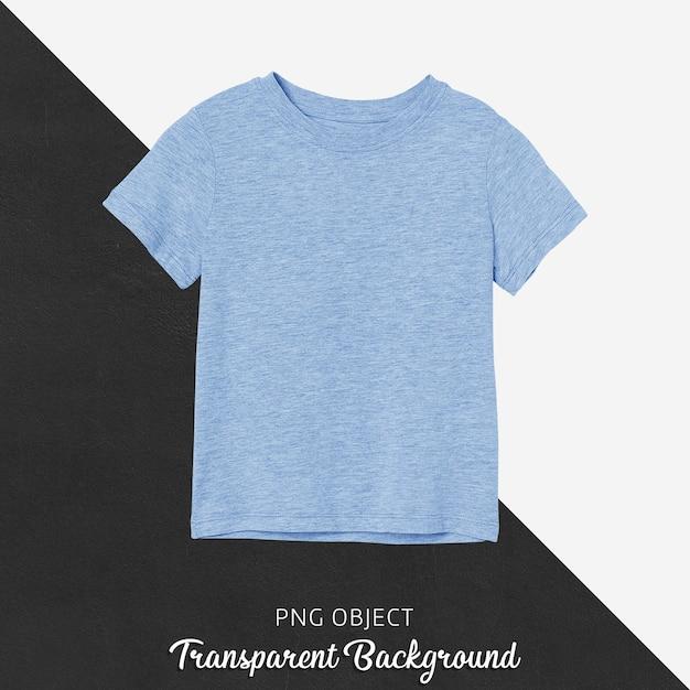 파란색 기본 어린이 Tshirt 모형의 전면보기 프리미엄 PSD 파일