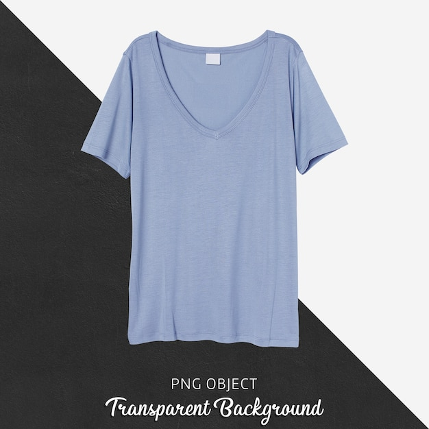 파란색 Tshirt 모형의 전면보기 프리미엄 PSD 파일