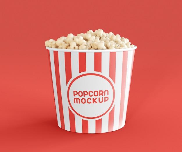 シネマポップコーンモックアップの正面図 Premium Psd