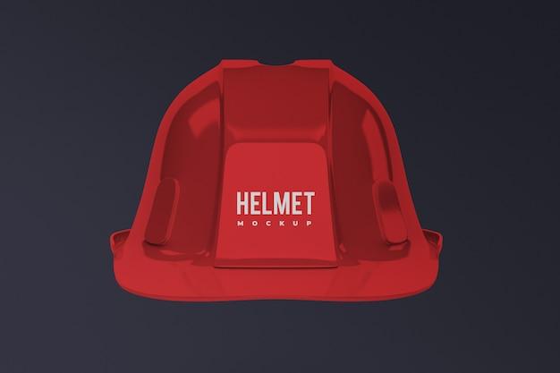分離された建設ヘルメットモックアップの正面図 Premium Psd