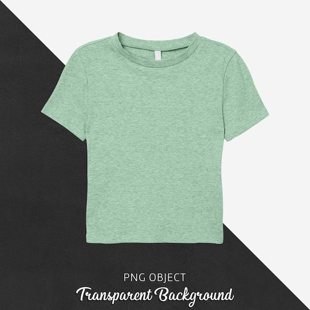 녹색 티셔츠 모형의 전면보기 프리미엄 PSD 파일