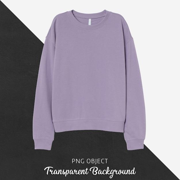 薄紫のスウェットシャツのモックアップの正面図 Premium Psd