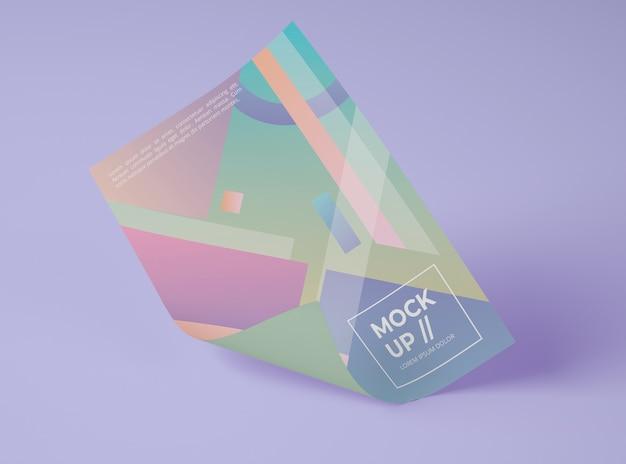 Вид спереди макетной бумаги с геометрическим рисунком Бесплатные Psd
