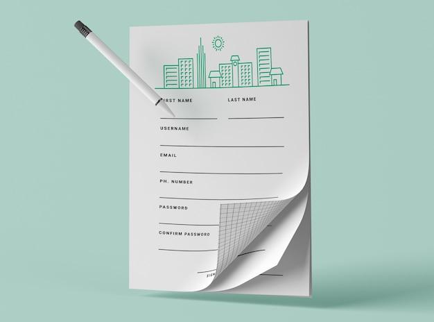 Вид спереди макетов с ручкой Бесплатные Psd