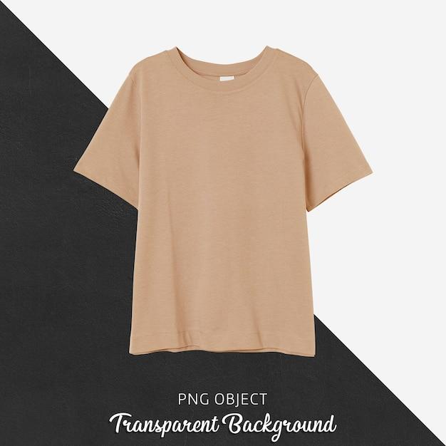 오렌지 남자 친구 Tshirt 모형의 전면보기 프리미엄 PSD 파일