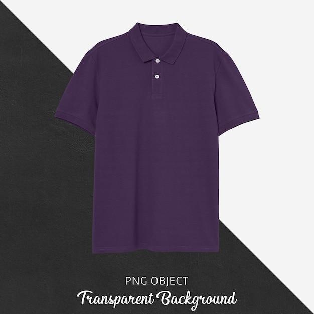 보라색 폴로 Tshirt 모형의 전면보기 프리미엄 PSD 파일