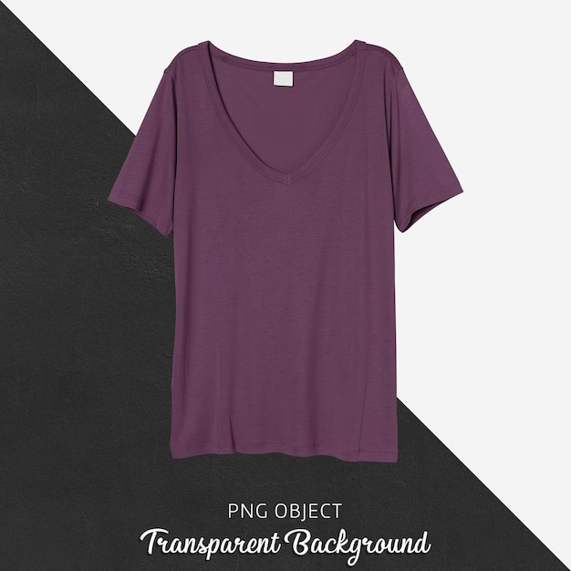 보라색 Tshirt 모형의 전면보기 프리미엄 PSD 파일