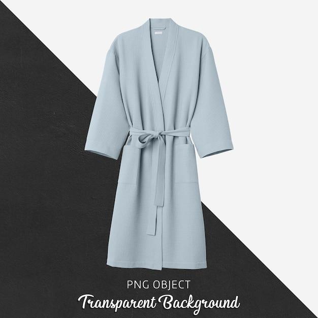 Мягкий синий макет халата, вид спереди Premium Psd