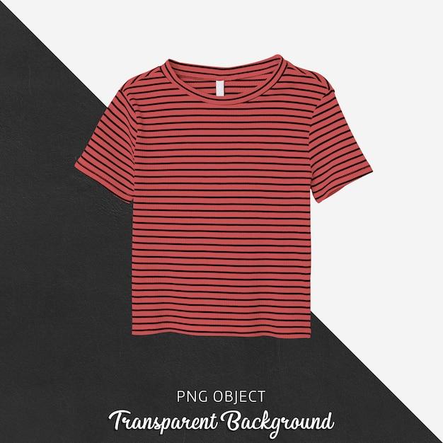 스트라이프 티셔츠 모형의 전면보기 프리미엄 PSD 파일