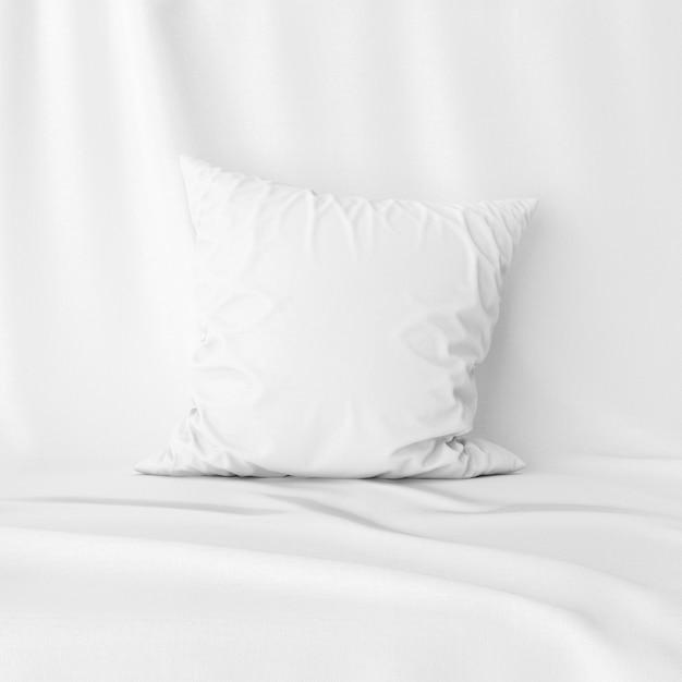 白い枕カバーモックアップの正面図 無料 Psd