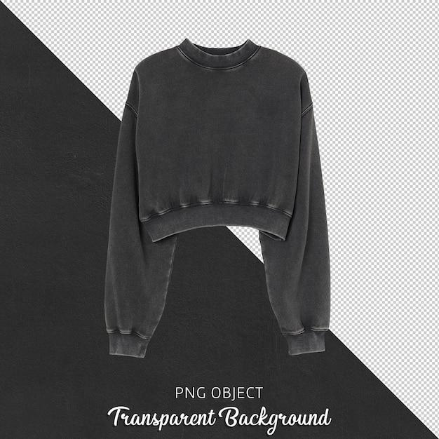 여자 검은 셔츠의 전면보기 프리미엄 PSD 파일