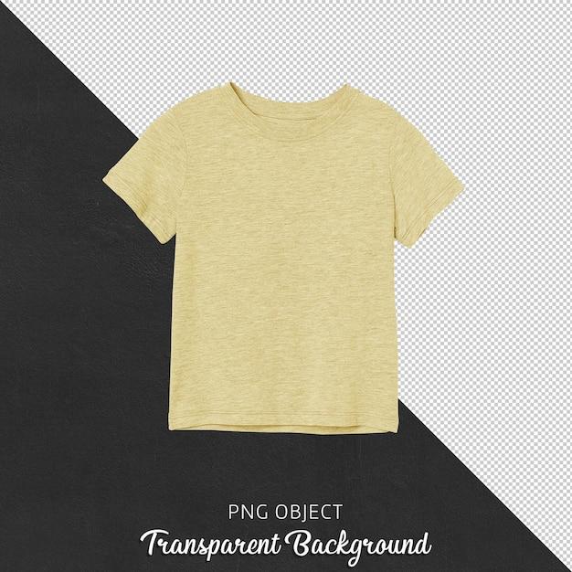 노란색 어린이 Tshirt의 전면보기 프리미엄 PSD 파일
