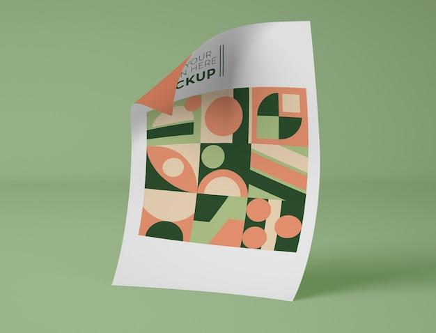Vista frontale della carta con disegno geometrico Psd Gratuite
