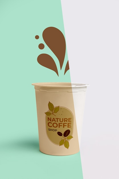 Front view of simple coffee cup Free Psd