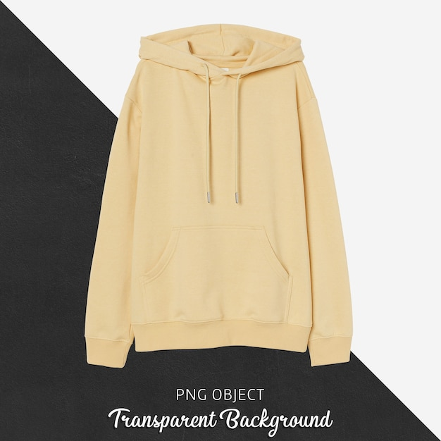 Front view of yellow hoodie mockup Premium Psd