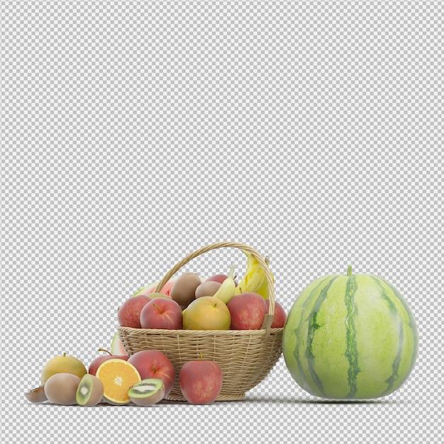 Fruit 3d render Premium Psd