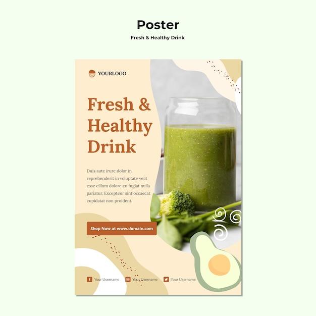 Плакат с рекламой фруктового сока Бесплатные Psd