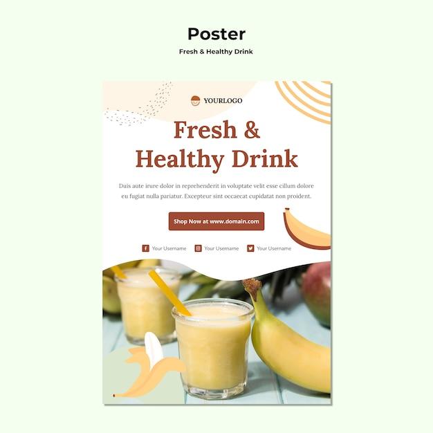 Плакат с фруктовым соком Бесплатные Psd