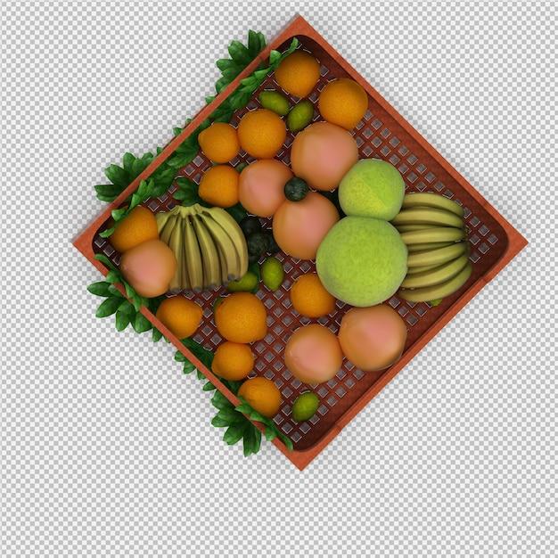 Fruits 3d render Premium Psd