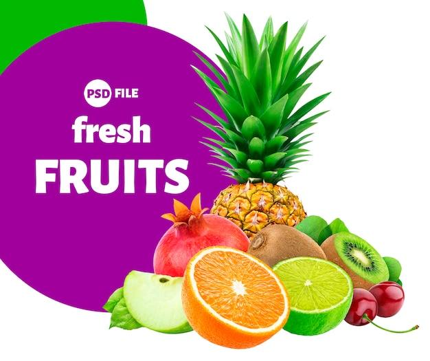 Фрукты и ягоды Premium Psd