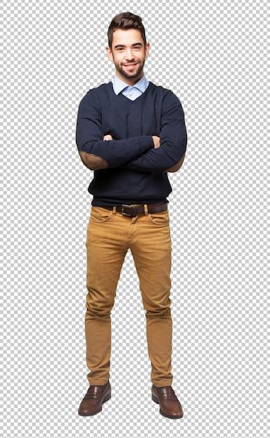 Full body elegant man Premium Psd