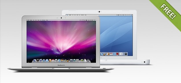 Full layered macbook air & macbook pro Free Psd