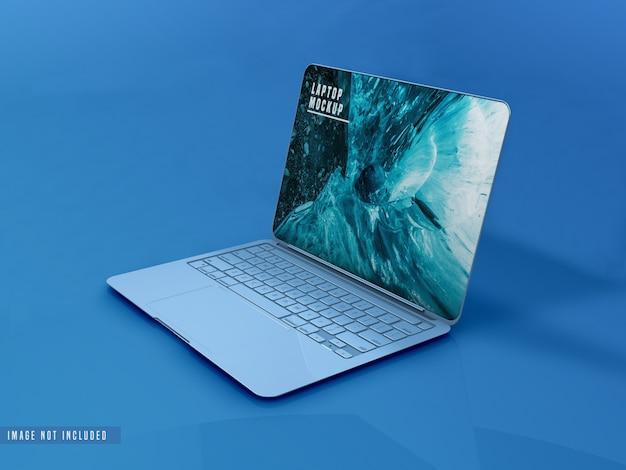 Design mockup per laptop a schermo intero Psd Gratuite