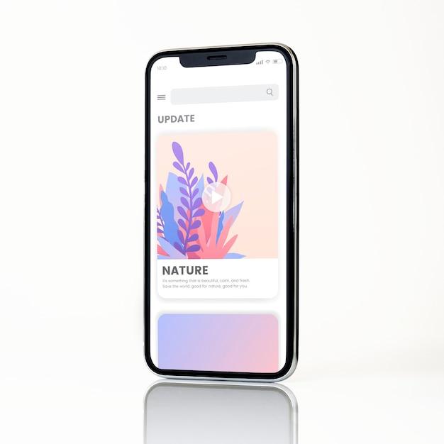 Full screen smartphone mockup design Free Psd