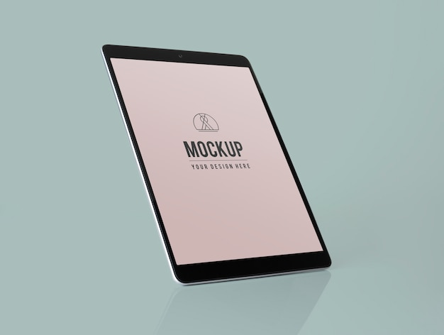 Full screen tablet mockup design Free Psd
