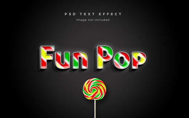 Fun pop 3d text effect template Premium Psd