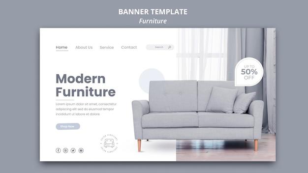 Tema del modello di banner mobili Psd Gratuite