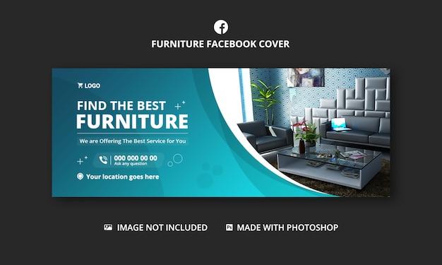 Furniture business facebook cover banner template design Premium Psd