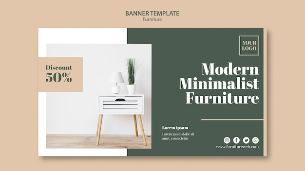 Modello di banner concetto di mobili Psd Gratuite
