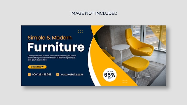 Furniture facebook cover page template Free Psd