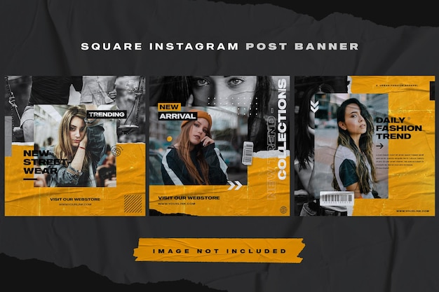 Furniture instagram post banner template