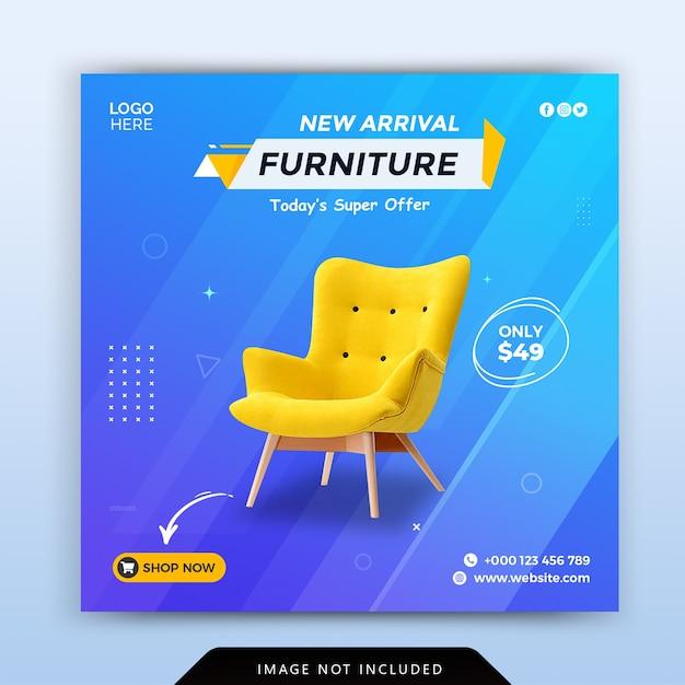 Furniture instagram social media post template Premium Psd