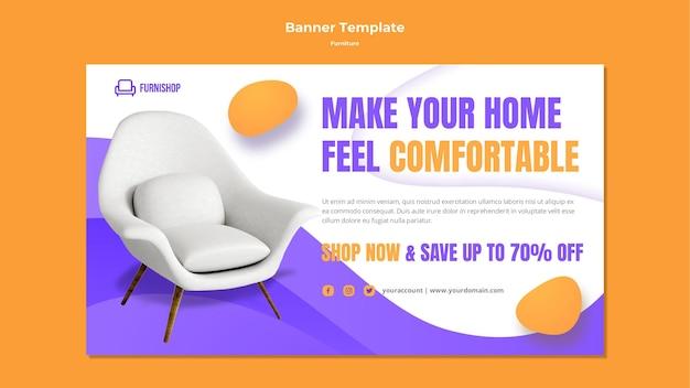 Modello di banner di vendita di mobili Psd Gratuite