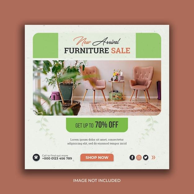 Furniture sale social media banner instagram post template Premium Psd