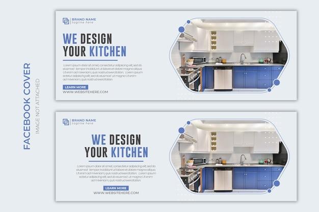 Furniture sale social media web banner flyer and facebook cover photo design template premium psd Pr