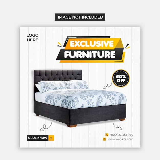 Furniture social media and instagram post template Premium Psd