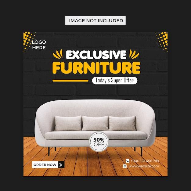 Furniture social media and instagram post template Premium Psd