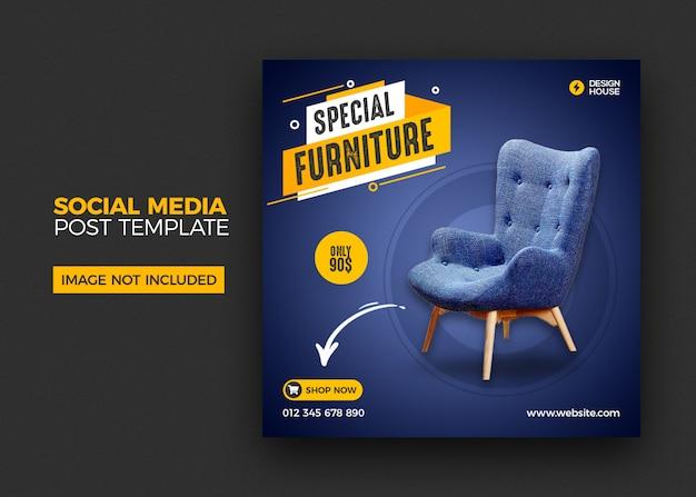 Furniture social media instagram post template Premium Psd
